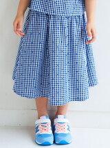 ギンガムチェック ドット スカート