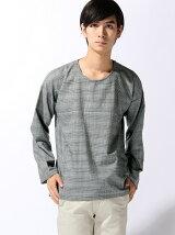 【BROWNY】(M)ストレッチプルオーバーシャツ