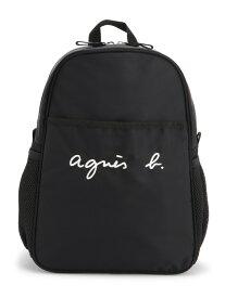 agnes b. ENFANT ENFANT/(K)GL11 E BAG ロゴ刺繍リュックサック アニエスベー バッグ キッズバッグ ブラック【送料無料】