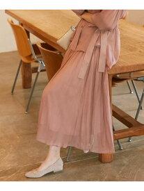 【SALE/50%OFF】any SiS 【洗える】シアーライトクロス スカート エニィスィス スカート スカートその他 ピンク ブラウン ブルー