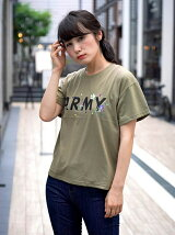 (L)ARMYプリントTEE