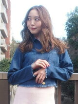 [sw]バック刺繍デニムジャケット