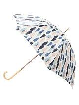 配色しずく柄長傘(晴雨兼用)