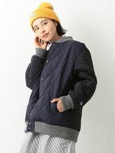 Champion × BEAMS BOY / 別注 キルティング スナップ ジャケット チャンピオン ビームスボーイ