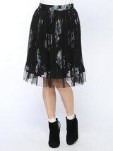 チュール花柄プリントスカート