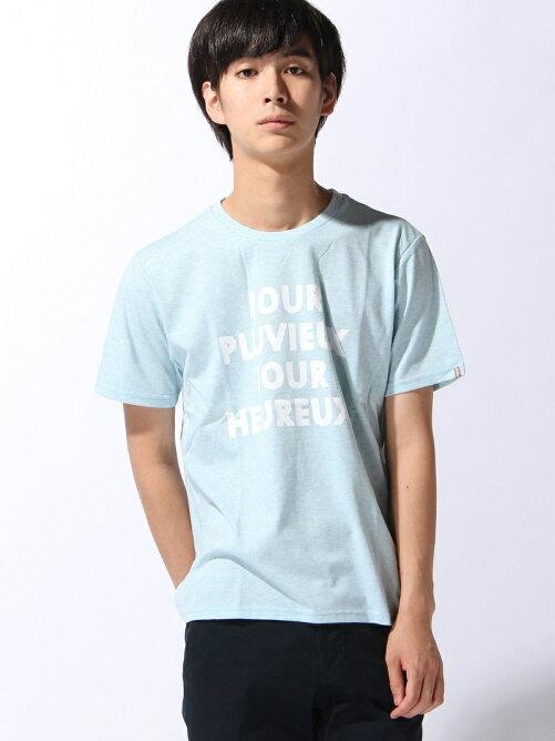 (M)[メンズ] 吸汗速乾 メッセージプリントTシャツ