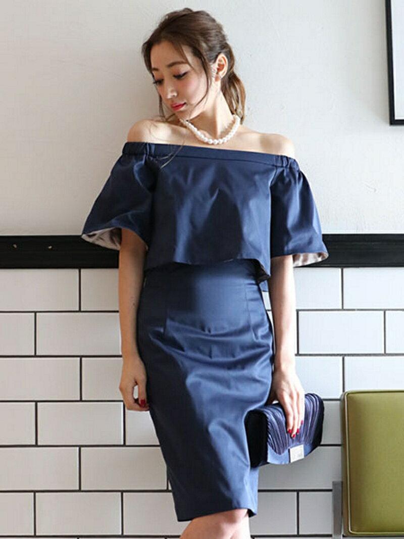 【SALE/22%OFF】Dress Lab Dress Lab/オフショルボレロ風ワンピース クリーム ビジネス/フォーマル【RBA_S】【RBA_E】【送料無料】