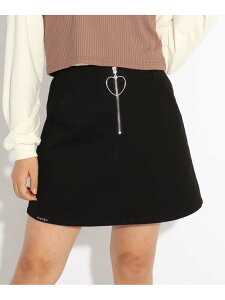【SALE/70%OFF】PINK-latte ハートチャームスカート ピンク ラテ スカート ミニスカート ブラック カーキ ネイビー