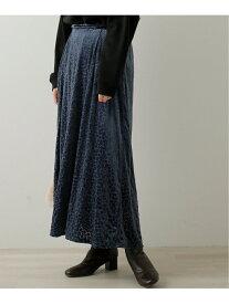【SALE/52%OFF】frames RAY CASSIN 小花オパールベロアフレアスカート レイカズン スカート 台形スカート/コクーンスカート ブルー ブラック