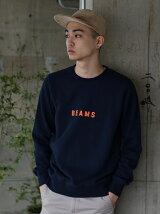 BEAMS / BEAMSロゴ クルーネック スウェットシャツ