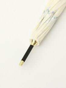 フラワー柄長傘 雨傘