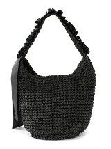 (L)カシュカシュ/フリルワンハンドル手編みトートバッグ