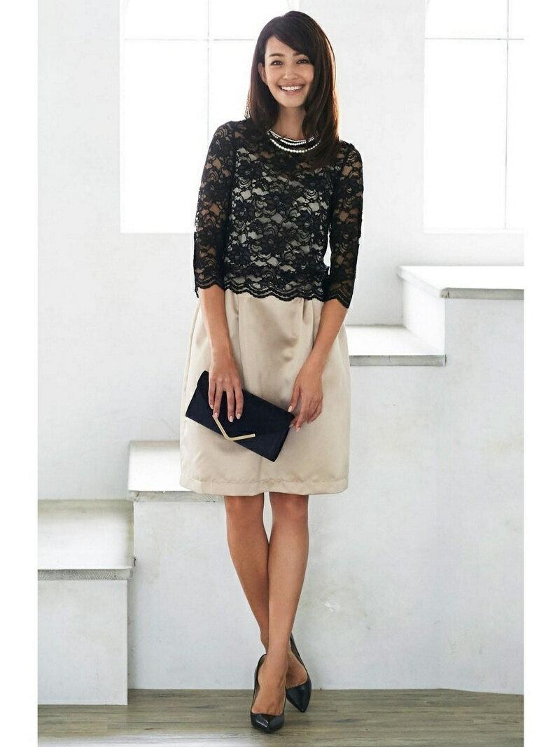 【SALE/25%OFF】Dress Lab Dress Lab/上品レースセットアップドレス クリーム ビジネス/フォーマル【RBA_S】【RBA_E】【送料無料】