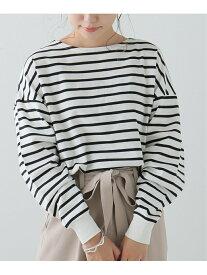 【SALE/20%OFF】frames RAY CASSIN 長袖裾リブ使いボーダープルオーバー レイカズン カットソー Tシャツ ホワイト ブラック ブラウン パープル