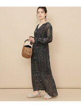 【ne Quittez pas】 GEORGETTE FLOWER LONG DRESS