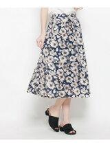 花柄フレアミディ丈スカート