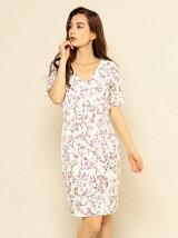 ヴィンテージフローラル柄ドレス