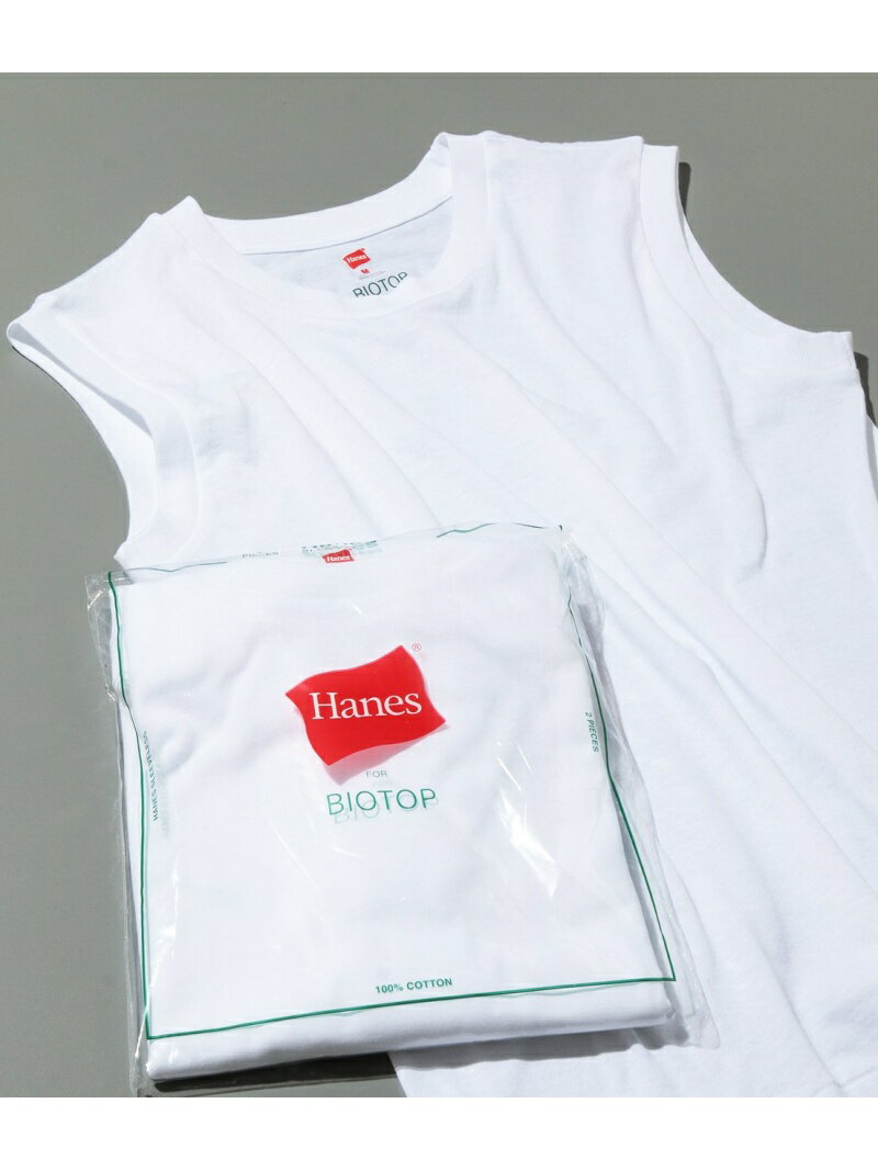 ADAM ET ROPE' FEMME 【Hanes FOR BIOTOP】Sleeveless T-Shirts アダムエロペ カットソー【送料無料】