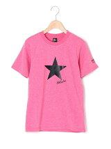 天竺星プリント半袖Tシャツ