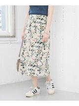 リーフフラワープリントスカート