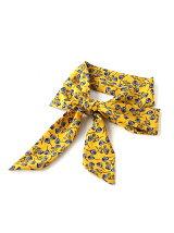 フラワープリントロングスカーフ