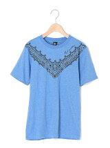 ペイズリー柄プリント半袖Tシャツ