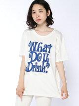 くるりんロゴプリントちょいルーズTシャツ