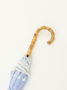 フラワー柄長傘 日傘