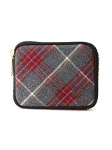 (M)ZIP AROUND TARTAN BILLFOLD