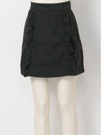 titty&Co. サイドフリルミニスカート ティティー アンド コー スカート ミニスカート グレー【送料無料】