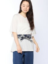 Techichi TERRASSE/サッシュベルト付フレアSVTシャツ