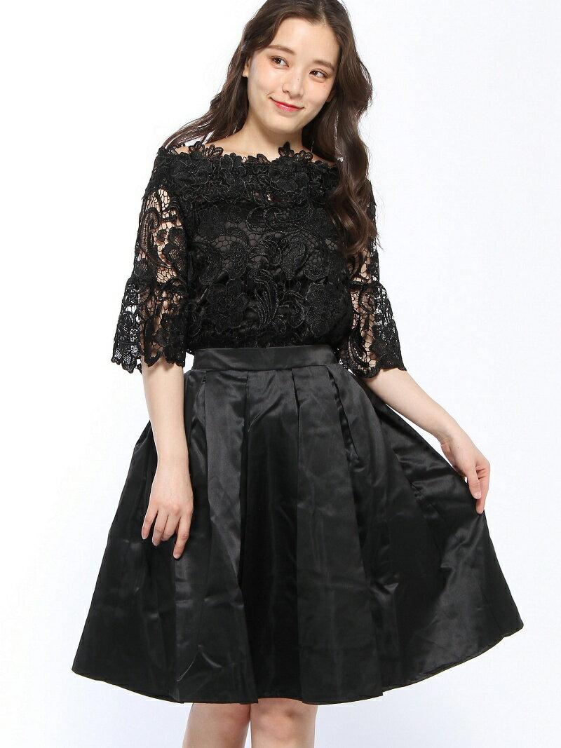 【SALE/35%OFF】Dress Lab Dress Lab/フリルスリーブスカートセット クリーム ビジネス/フォーマル【RBA_S】【RBA_E】【送料無料】