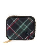 (M)ZIP AROUND TARTAN KEY CASE