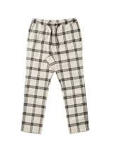 DRAWSTRING PLAID PANT