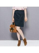 ≪大きいサイズ≫ソフトタッチ切り替え台形スカート