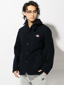 BEAMS MEN DANTON / Wool Mosser ビームス メン コート/ジャケット ロングコート ネイビー グレー【送料無料】