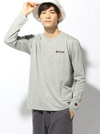 【SALE/20%OFF】SPENDY'S Store OUTDOORワンポイントロングTシャツ スペンディーズストア カットソー Tシャツ グレー ネイビー ブラック ホワイト