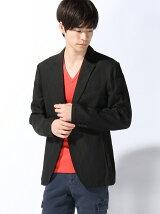 (M)ドビーストライプシャツジャケット