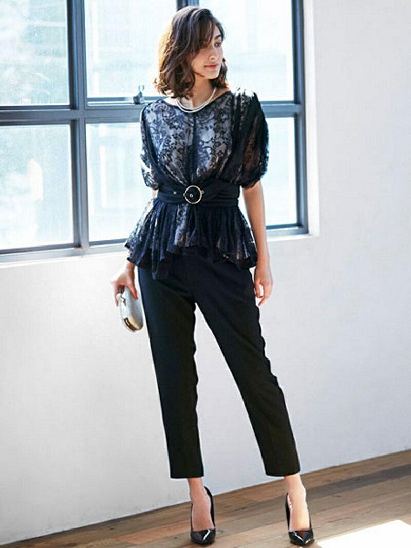 【SALE/35%OFF】Dress Lab Dress Lab/レーストップスパンツセットアップ クリーム カットソー【RBA_S】【RBA_E】【送料無料】