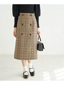 【SALE/10%OFF】ROPE' PICNIC チェックリバーシブルスカート ロペピクニック スカート スカートその他 カーキ ブラック ブラウン【送料無料】
