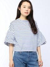 バルーンスリーブボーダーTシャツ