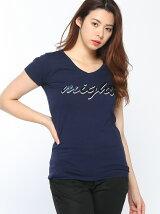 スパンコールロゴTシャツ