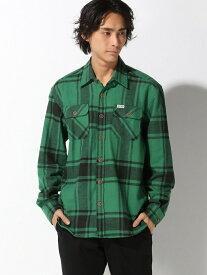nudie jeans FRANKLIN&MARSHALL/(M)フランネルチェックシャツ ヌーディージーンズ / フランクリンアンドマーシャル シャツ/ブラウス 長袖シャツ グリーン【送料無料】
