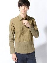 HALB/(M)レオパードオックスシャツ