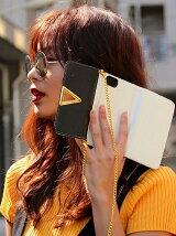 ANAP トライアングルデザインバイカラーiPhoneケース