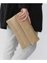 レザー三つ折りクラッチバッグ