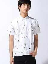 [HOUSTON]総柄刺繍半袖シャツ