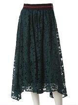 《INED》コットンカットシースルスカート