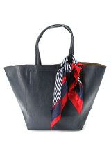(L)カシュカシュ/スカーフ付きシンプルトートバッグ