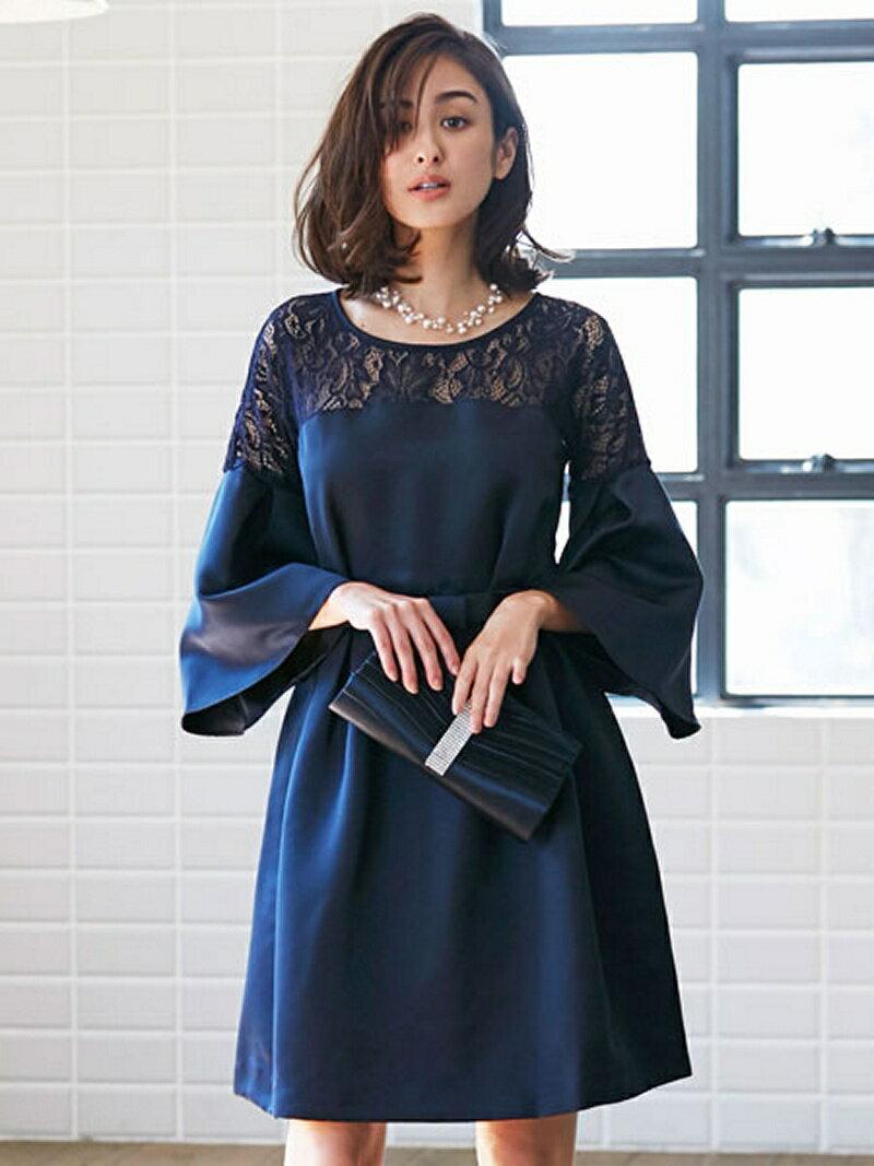 【SALE/32%OFF】Dress Lab Dress Lab/ベルスリーブレースワンピース クリーム ワンピース【RBA_S】【RBA_E】【送料無料】